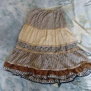 White stag long skirt